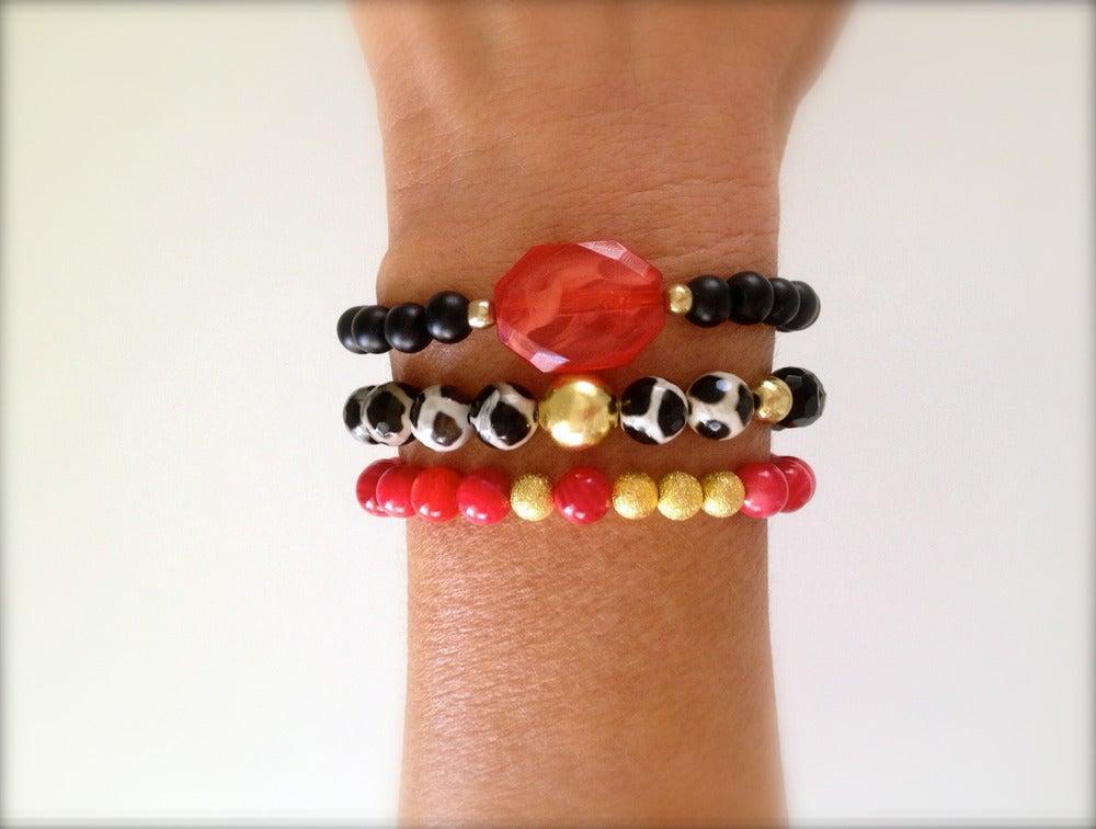 Image of Wild Strawberry Bracelet Set
