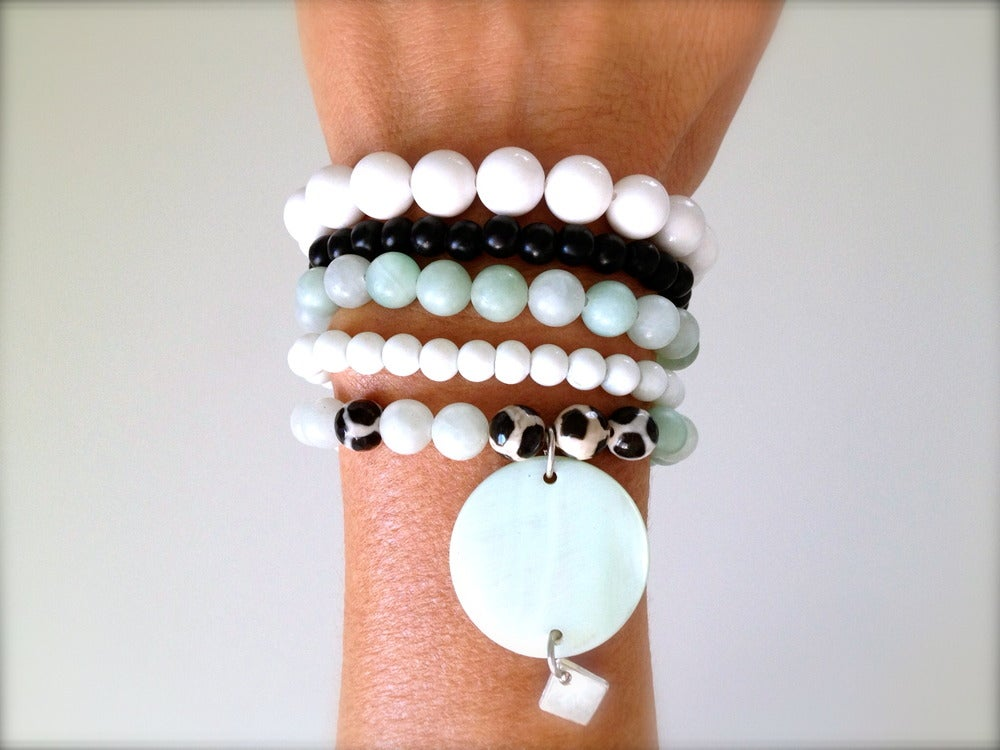 Image of Mint and Chip Bracelet Stack