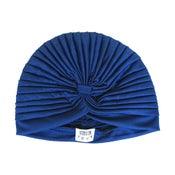 "Image of SHEIKHA <span class=""smallTit""> Dark Blue Turban Hat </span>"