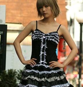 Image of emma black & white top