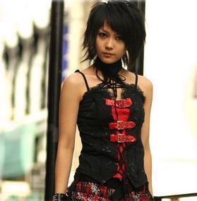 Image of sabina  black & red top