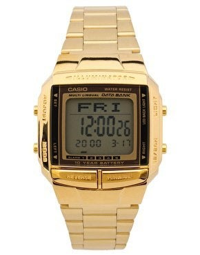 Image of Casio DB-360GN Digital Gold Watch.