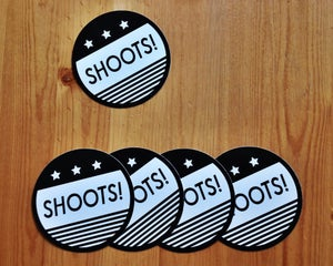 Image of SHOOTS! Stickers (pack of 5)