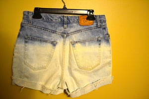 Image of Ombre High-Waisted Denim Shorts