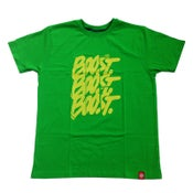 Image of 3XBOOST T-SHIRT. GREEN - YELLOW