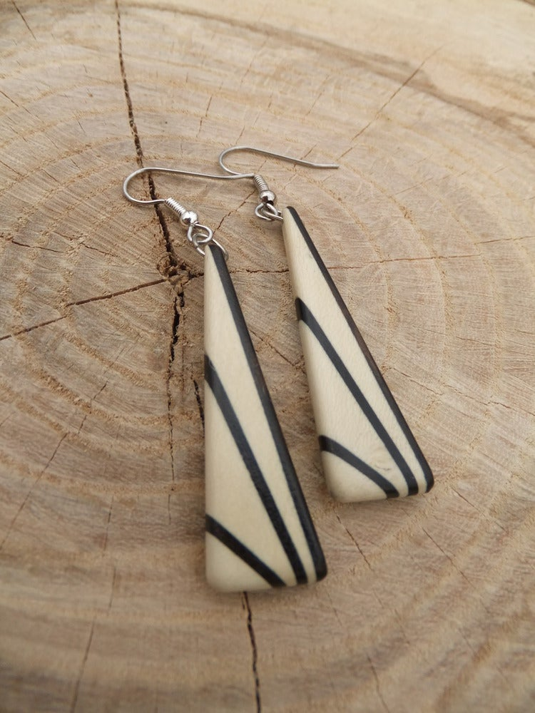 Image of Deco Inspired Earrings - Holly and Ebony