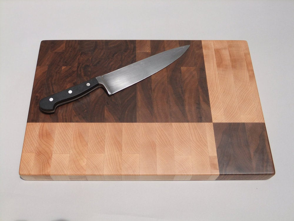 Image of Geometric End Grain Cutting Board