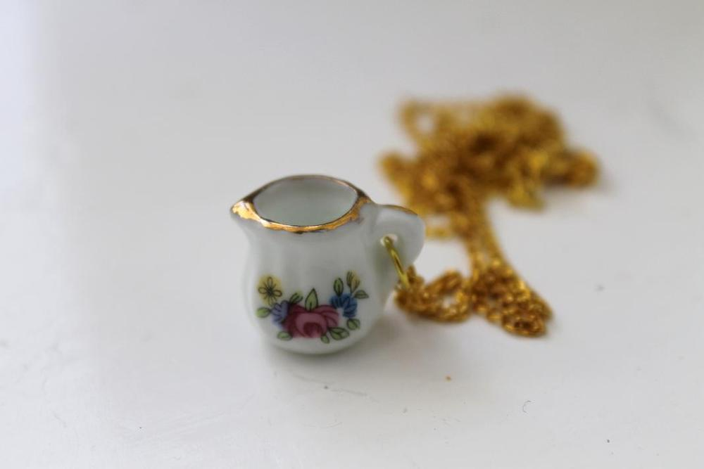 Image of Mini Floral Pitcher Necklace