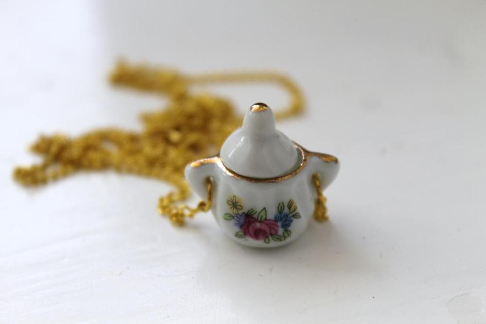 Image of Mini Floral Sugarpot Necklace