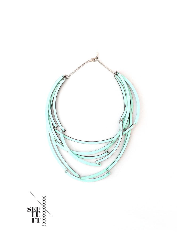 Image of Blue Vinyl / Necklace