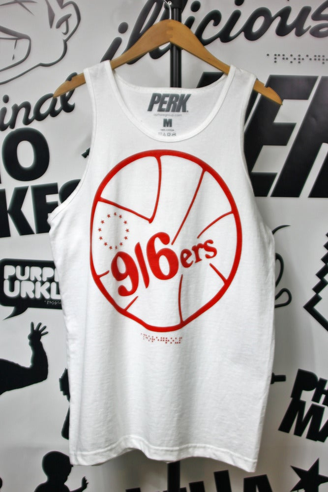 Image of 916ers Tank White & Red