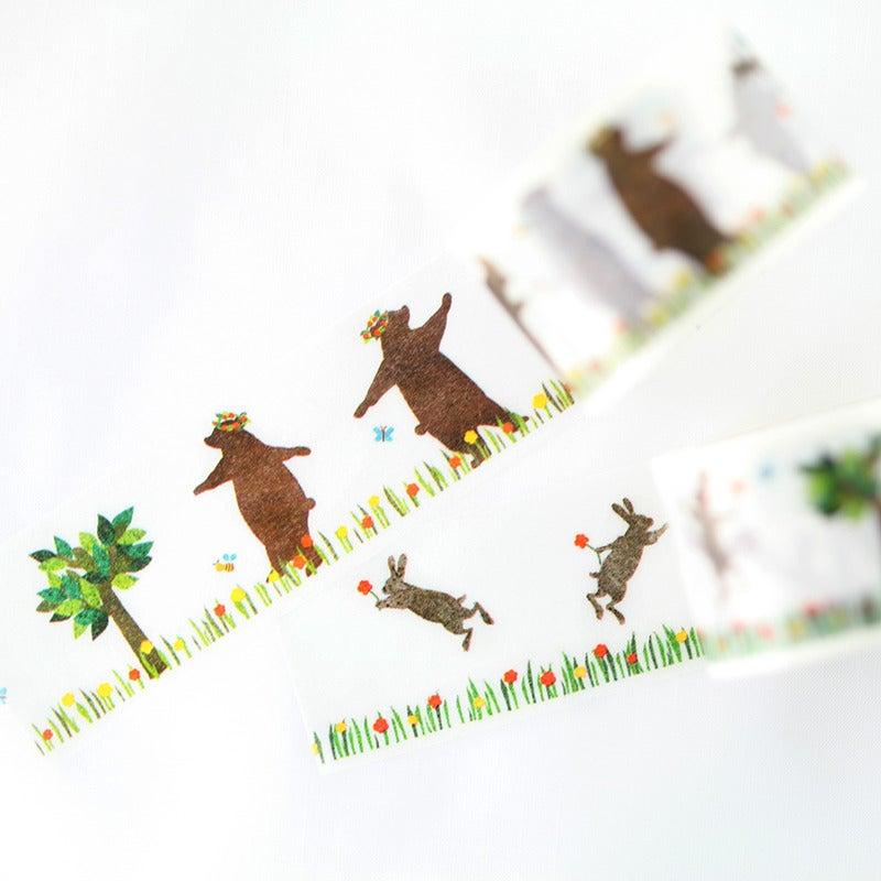 Image of Dancing Bunny + Bear Washi Tape