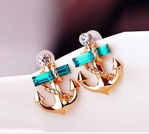 Image of Fashion Rhinestone Anchor Earrings