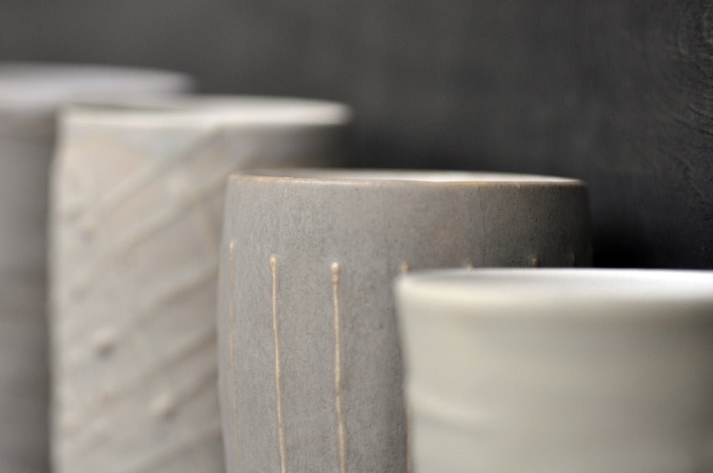 Image of textured tumblers