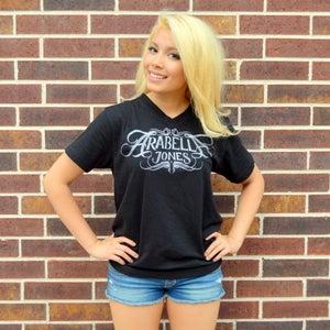 Image of ARABELLA JONES Black V-Neck T-shirt