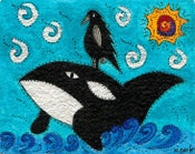 Image of Nest Art Exhibition: Alala on an Orca by Kathy Dorfer