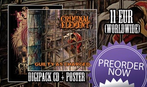 "Image of CRIMINAL ELEMENT ""Guilty As Charged"" DIGIPACK cd"