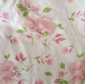 Image of Fabric Finders Inc. Pink Shabby Floral Heirloom Fabric 60'' wide