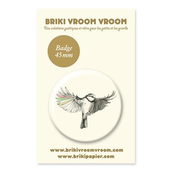 Image of Badge oiseau en vol