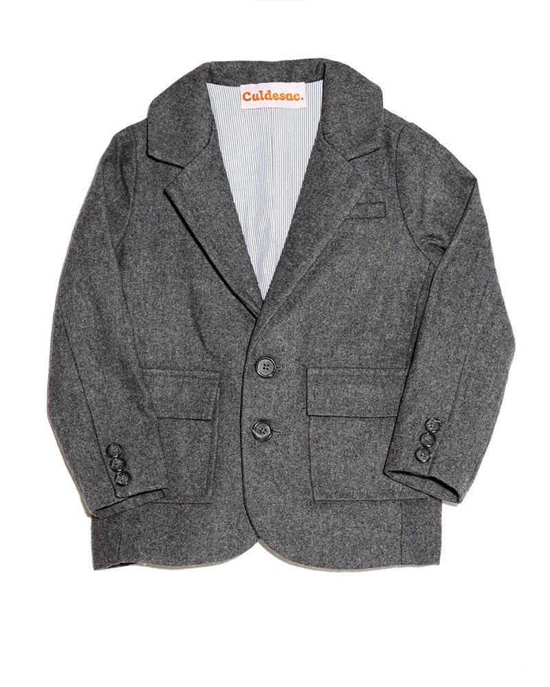 Image of Basic Medium Grey Suit Jacket