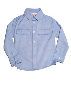 Image of Blue Flap Pocket Shirt