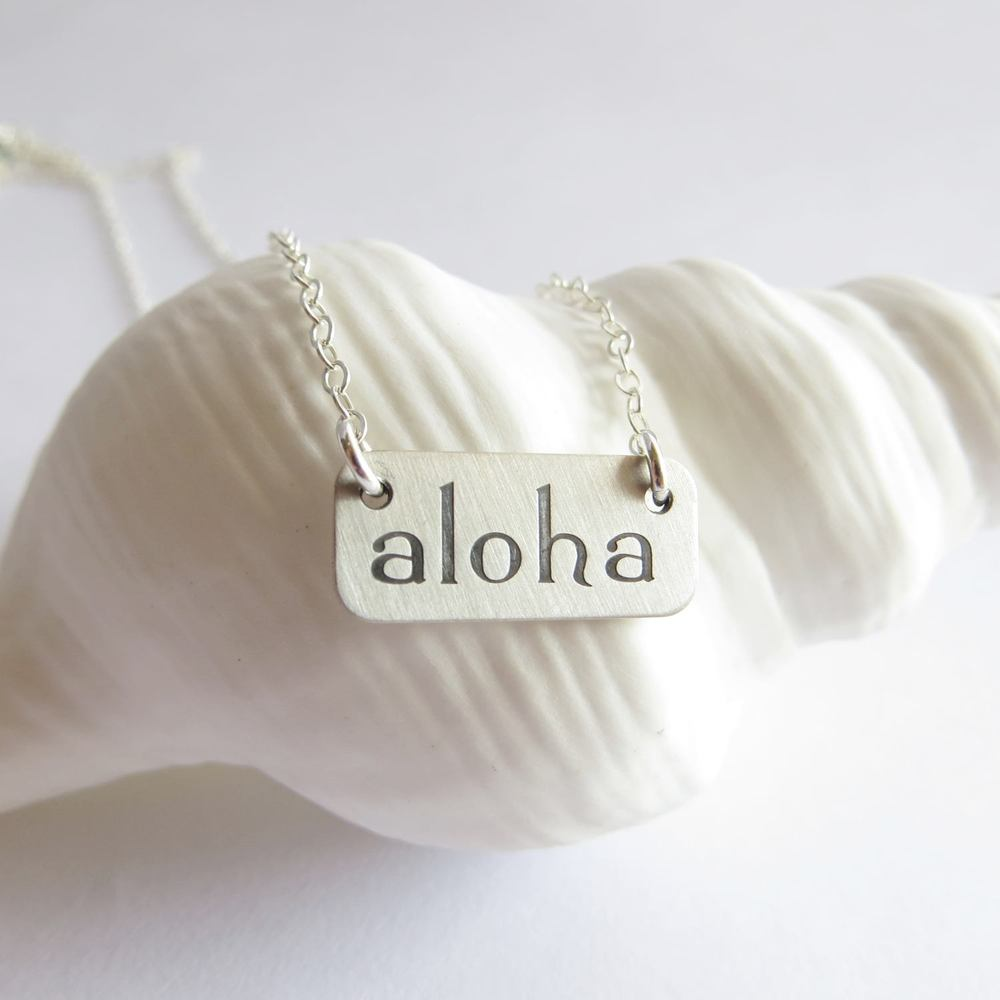 Image of Aloha Necklace silver