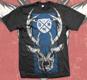 Image of BLACK & BLUE DEER - T SHIRT
