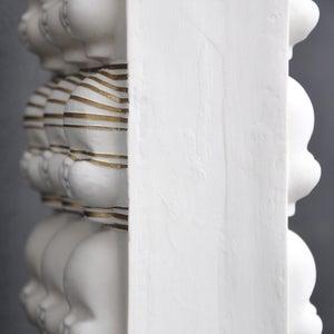 Image of double sided stripe vase
