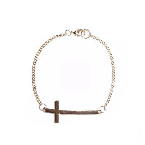 Image of Gold Cross Bracelet