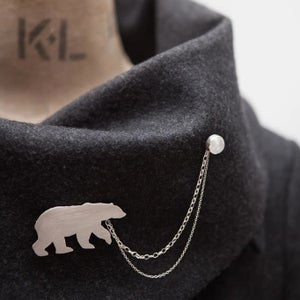 Image of Polar Bear Brooch