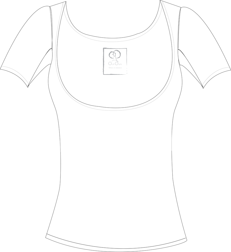Image of Below the Bra White Regular Sleeve