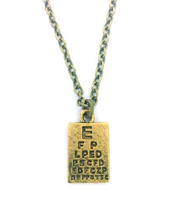 Image of Cute and Quirky Eye Test Necklace