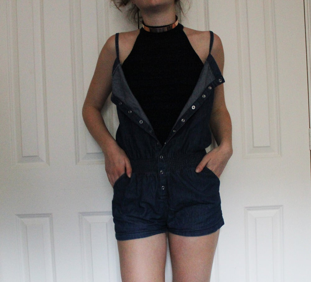 Image of New look denim playsuit size 10