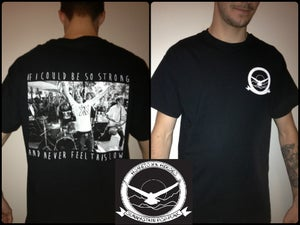 Image of Hometown Heroes-Eagle Pocket Tee (Black)