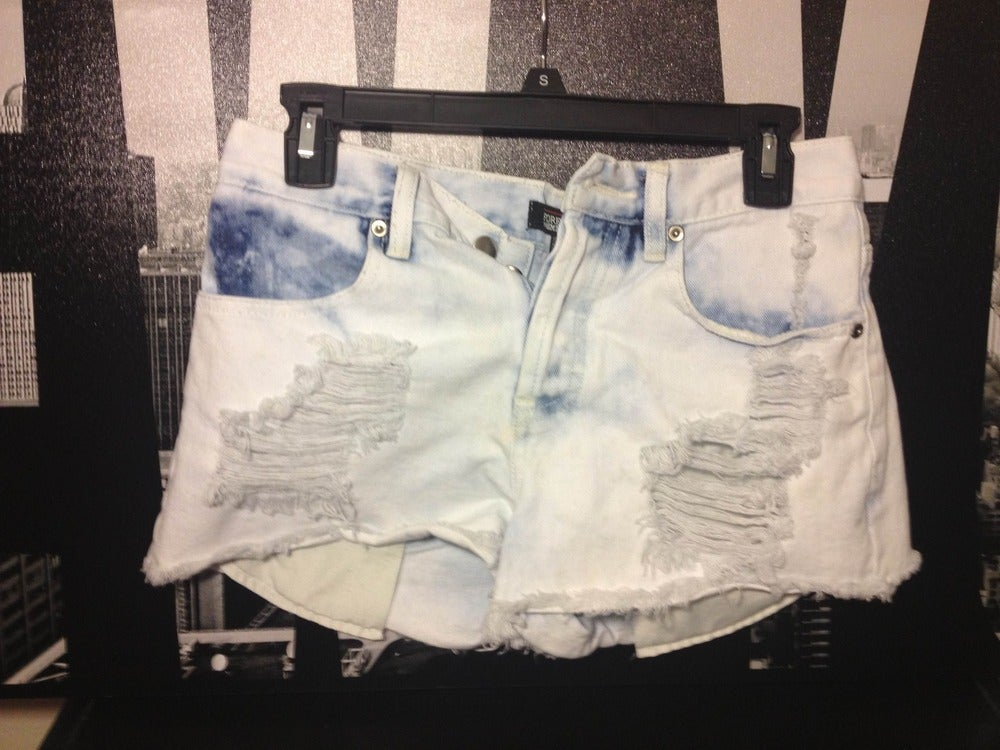 Image of Light Denim Shorts