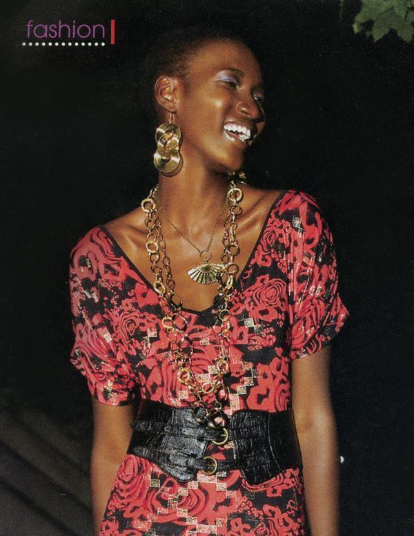 Image of Golden Geisha Fan Necklace **As seen in Black Beat Magazine**