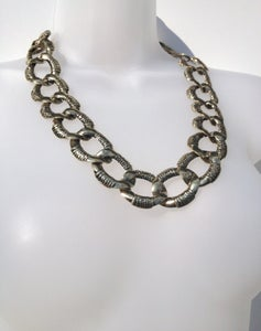 Image of Limited Edition Chunky Gold Oval Curb Necklace In The Style Of Lucy Watson #MiC
