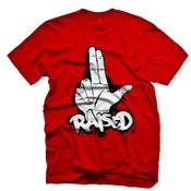 Image of 2 Finger 'L' Raised in Red