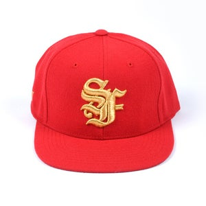 Image of San Francisco OE Snapback Cap (Red)