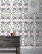 Image of Wallpaper Pattern: Calypso <br> Color Way: Amethyst