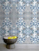Image of Wallpaper Pattern: Floriana <br> Color Way: Misty Blue