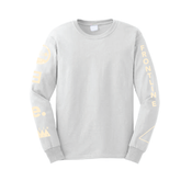 Image of TOO MANY HITS LONG SLEEVE - WHITE