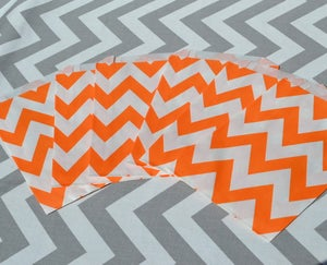 Image of Orange Chevron Party Bags