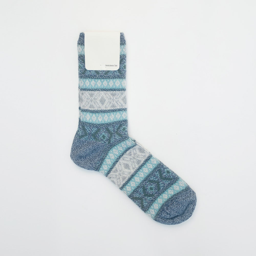 Image of Anonymous Ism Jacquard Socks - BLUE