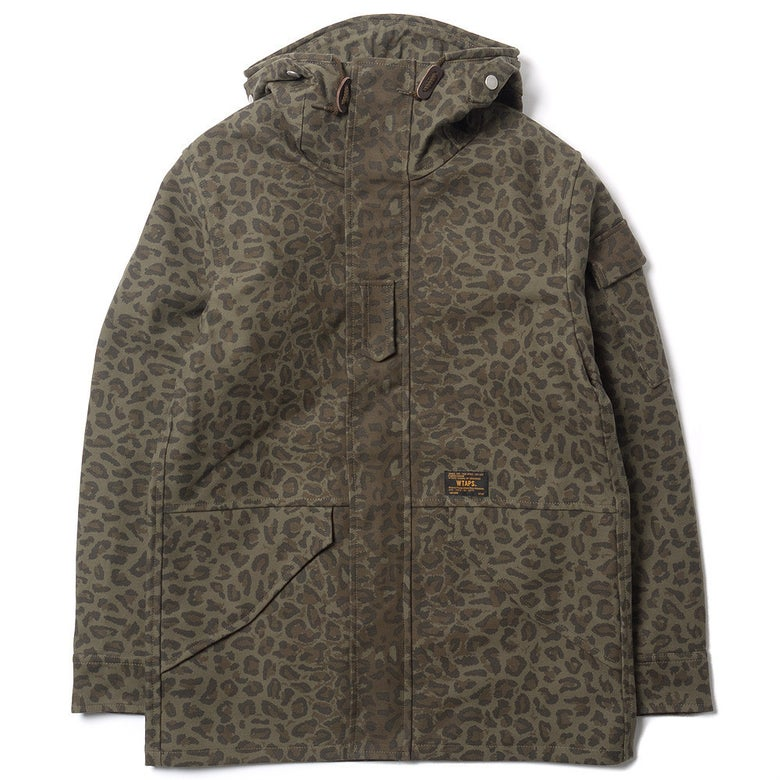 Image of Wtaps Parasmock 3Layer Leopard Jacket L