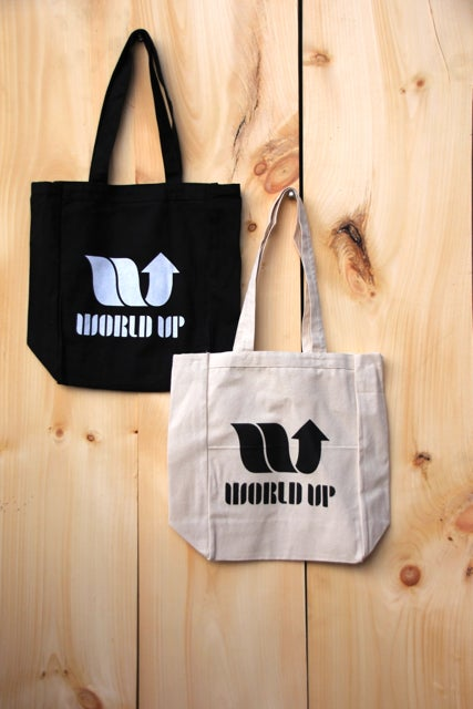 Image of World Up Cotton Tote Bags