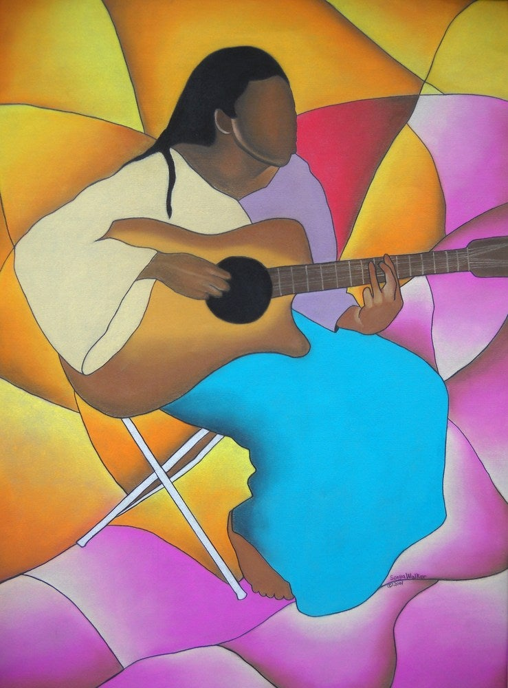 Image of Guitar Player (Original)