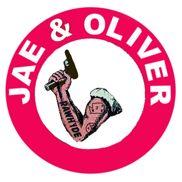 "Image of Jae & Oliver ""RAWHYDE"" sticker"