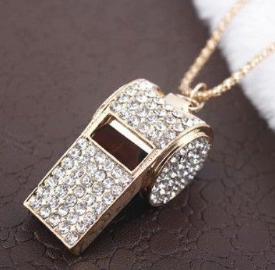 Image of [grxjy5100152]Fashion rhinestone whistle necklace