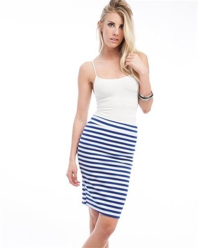 Image of Plus Size Stipe Skirt